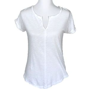 Madewell | White Split Neck Tee